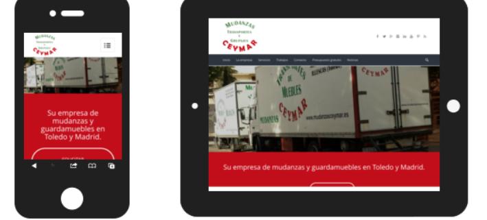 Web Mudanzas Ceymar moviles